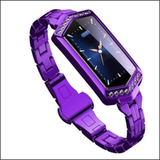 Sport Smart Watch Fitness Bracelet - B78 Purple Steel / with box add 8GB TF
