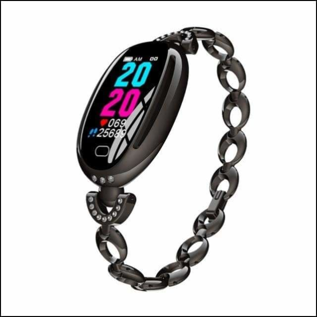 Sport Smart Watch Fitness Bracelet - E68 Black Steel / not have retail box