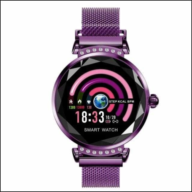 Sport Smart Watch Fitness Bracelet - H2 Purple Steel / with box add 16GB TF