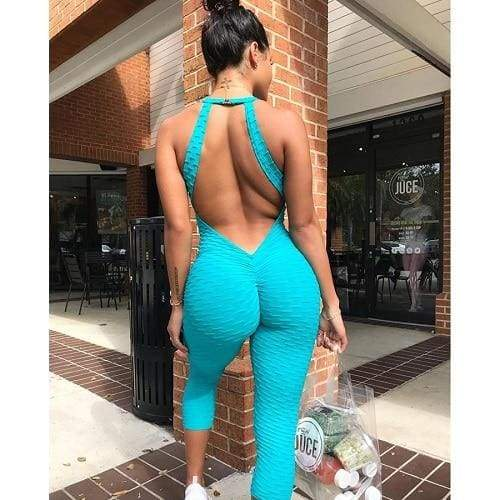 Sportswear Fitness Wear Just For You - Blue / L - Yoga Sets