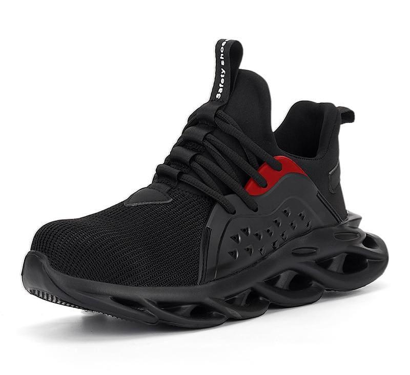 Steel Toe Cap Men Safety Shoes - Black / 5 - Safety Shoes