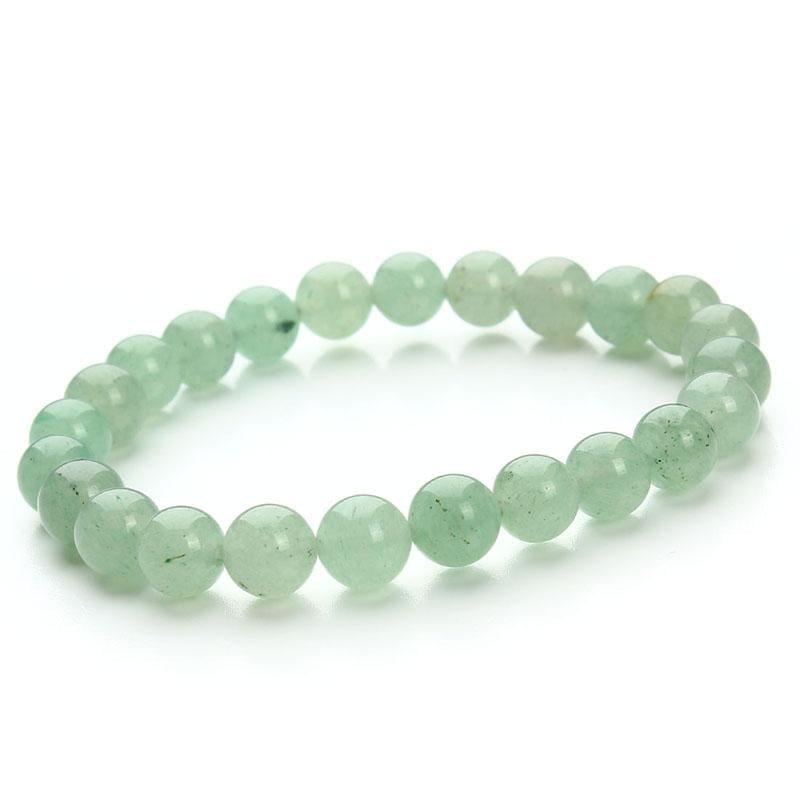 Summer Style Natural Stone Beads Bracelet - Green Aventurine - Charm Bracelets