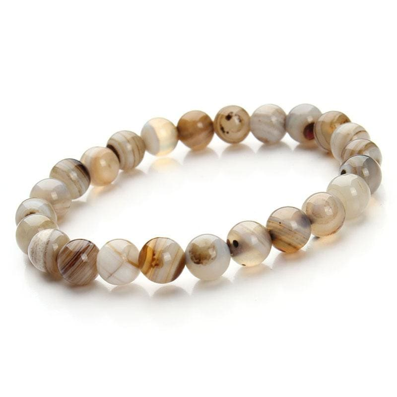 Summer Style Natural Stone Beads Bracelet - Light cofee - Charm Bracelets
