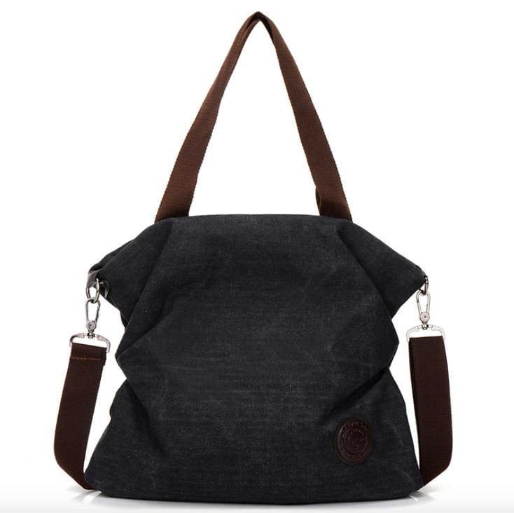 The canvas tote handbag - black small - Shoulder Bags
