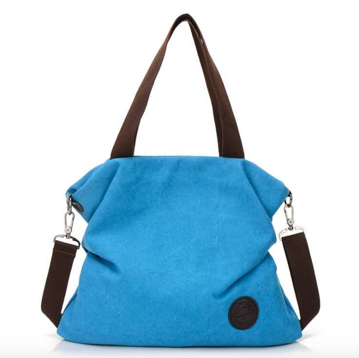 The canvas tote handbag - blue small - Shoulder Bags