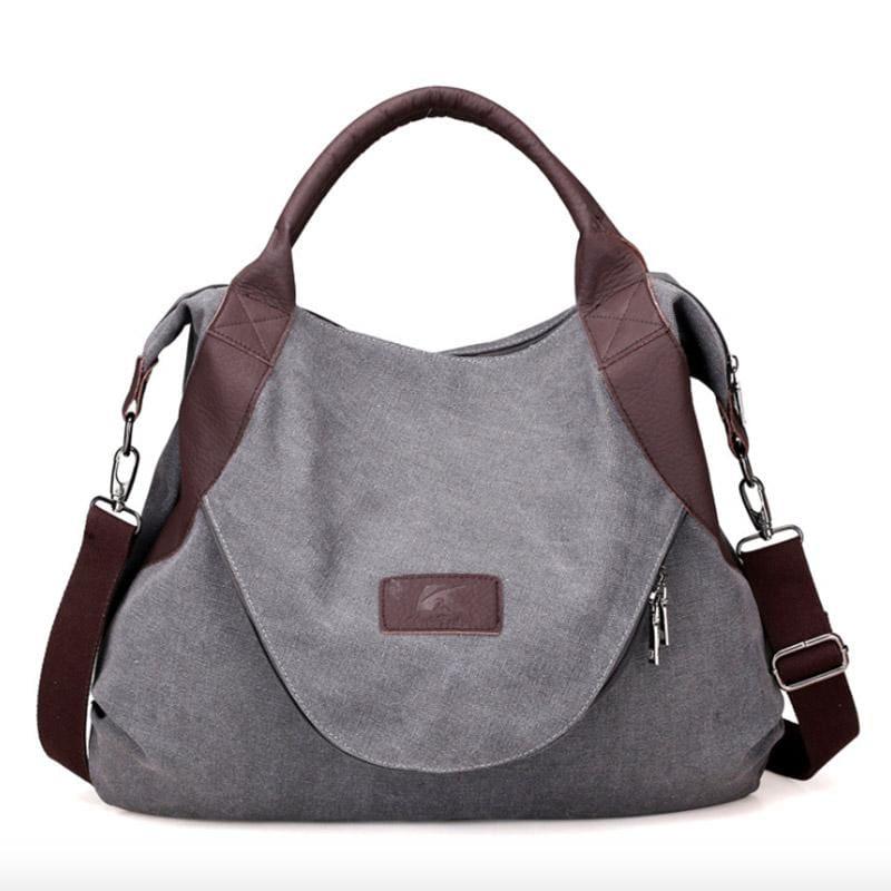 The canvas tote handbag - gray large - Shoulder Bags