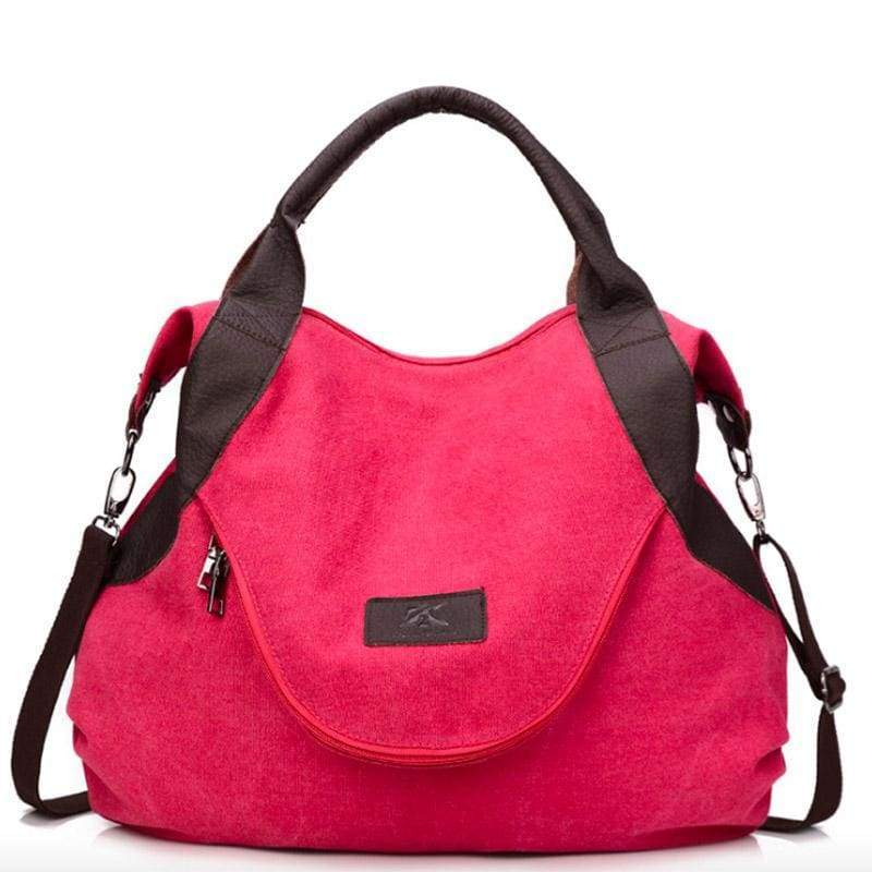 The canvas tote handbag - red large - Shoulder Bags