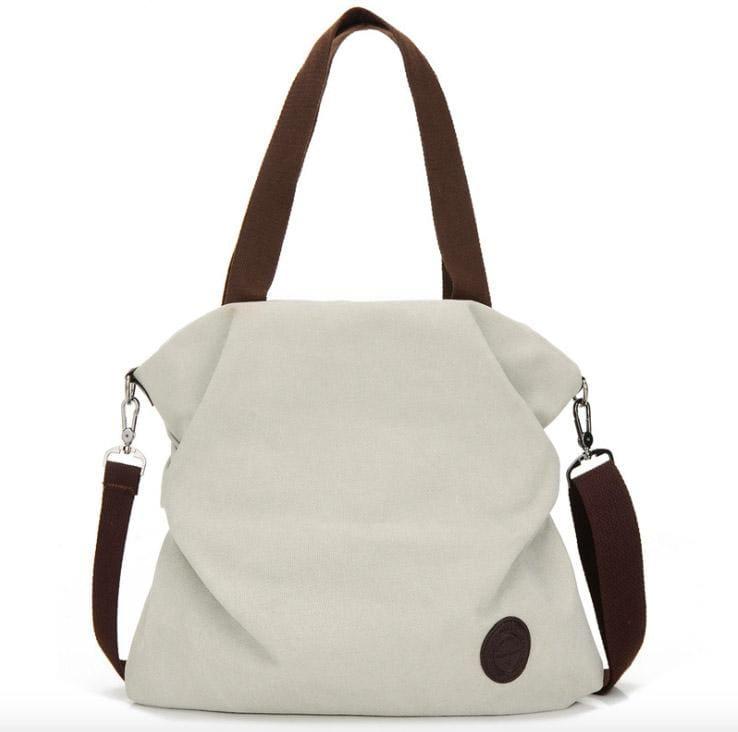 The canvas tote handbag - white small - Shoulder Bags