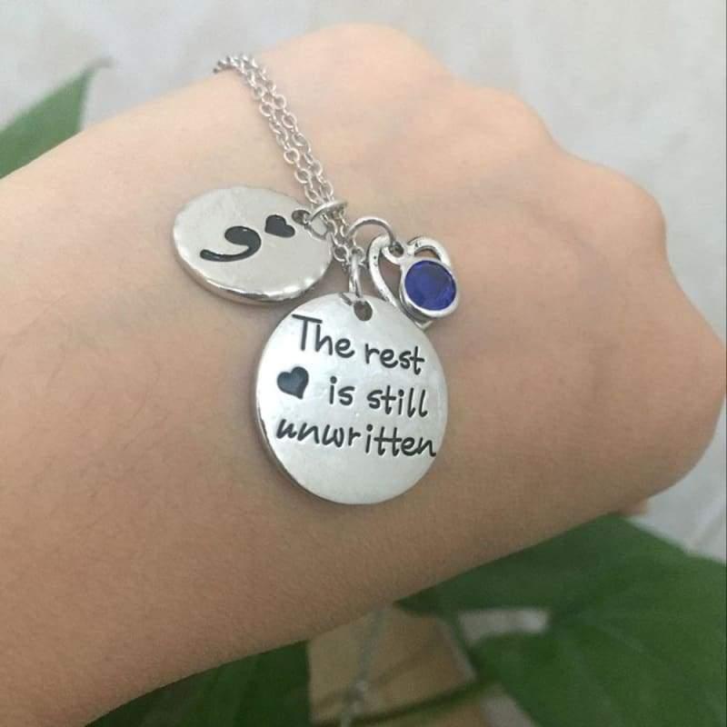 The rest is still unwritten pendant - Pendant Necklaces