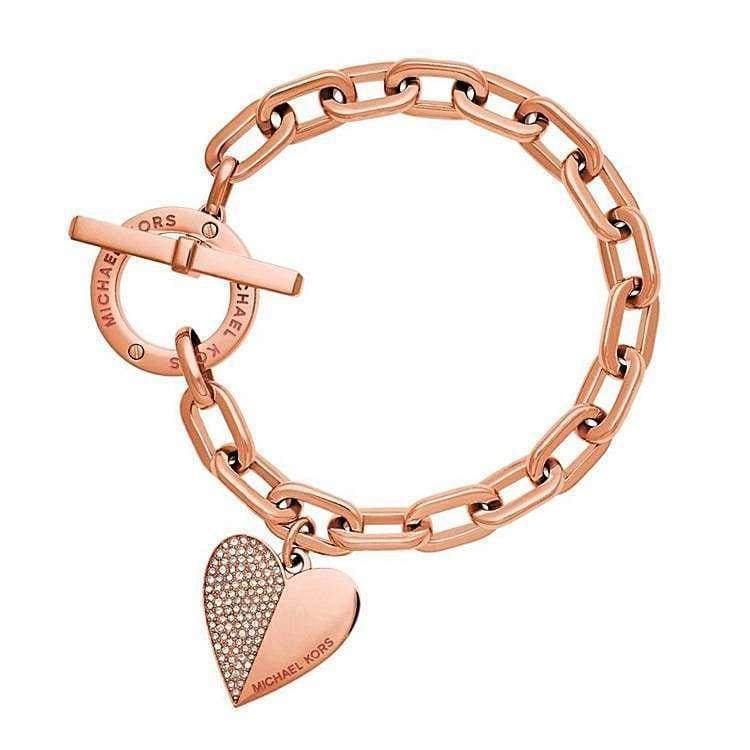Trendy Heart Bracelet - RG - Chain & Link Bracelets
