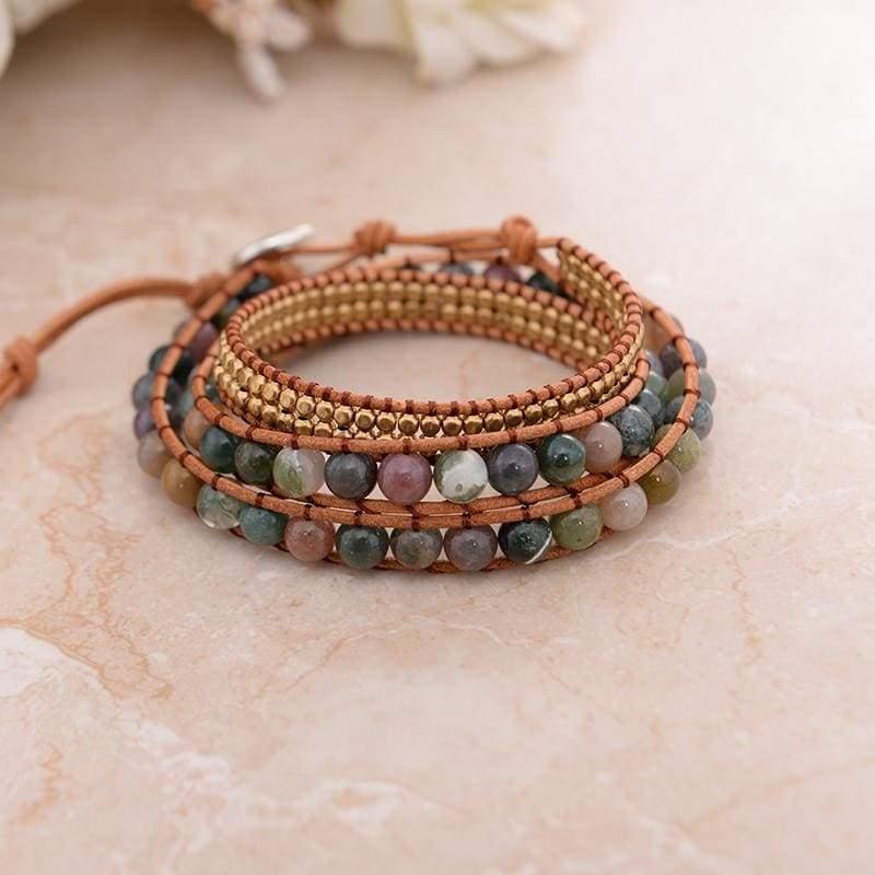 Triple Leather Wrap Bracelet - Chain & Link Bracelets