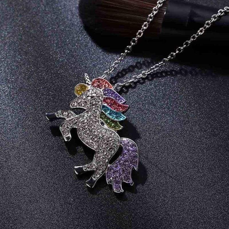 Unicorn Girls Rainbow Pendant - Pendant Necklaces