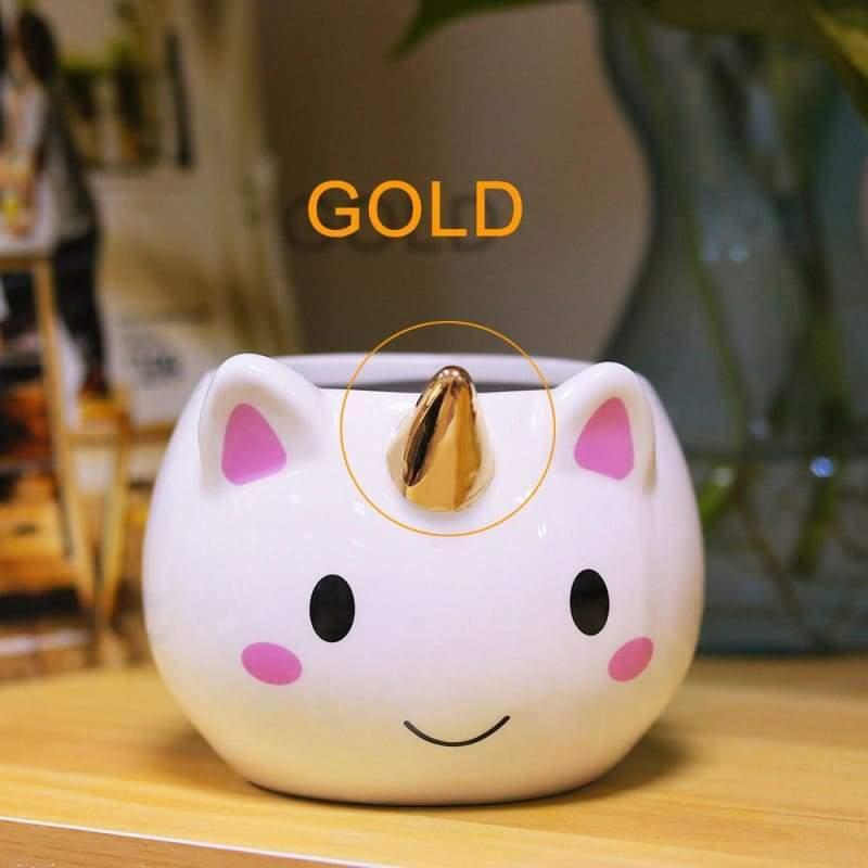 Unicorn Mugs Cup for kids - gold - Mugs