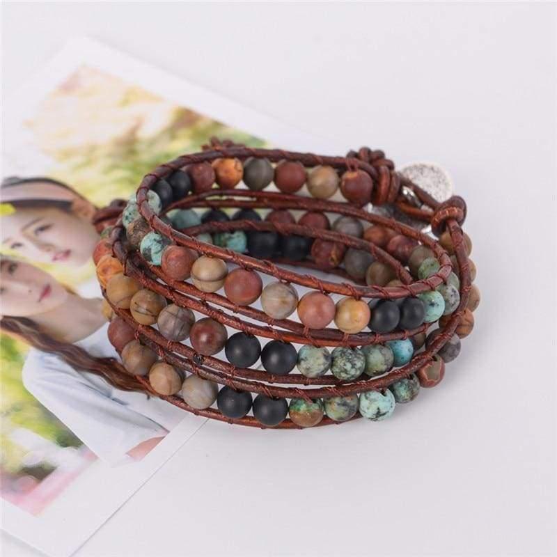 Unique Wrap Leather Strands Bracelets - Wrap Bracelets