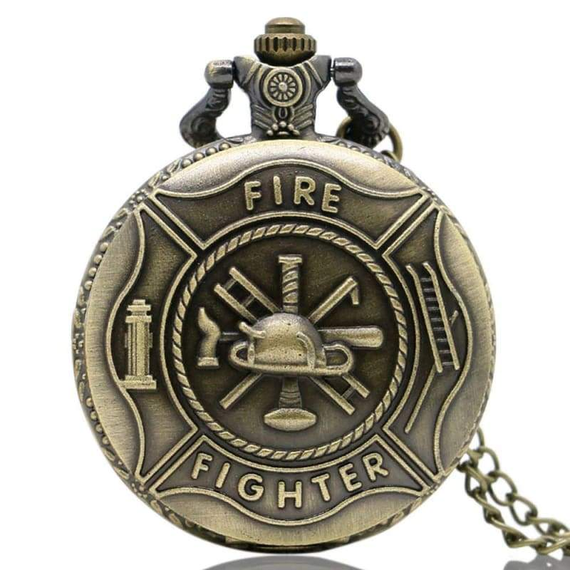 US Army Navy Air Force Marines Corps firefighter Watch - Bronze Fighter - Pocket & Fob Watches