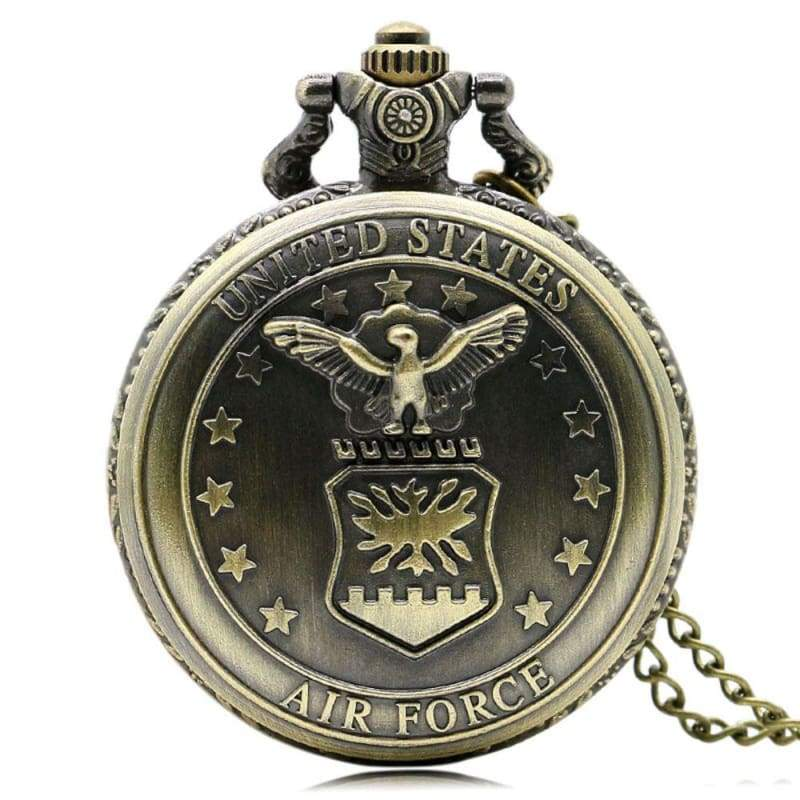 US Army Navy Air Force Marines Corps firefighter Watch - Air Force - Pocket & Fob Watches