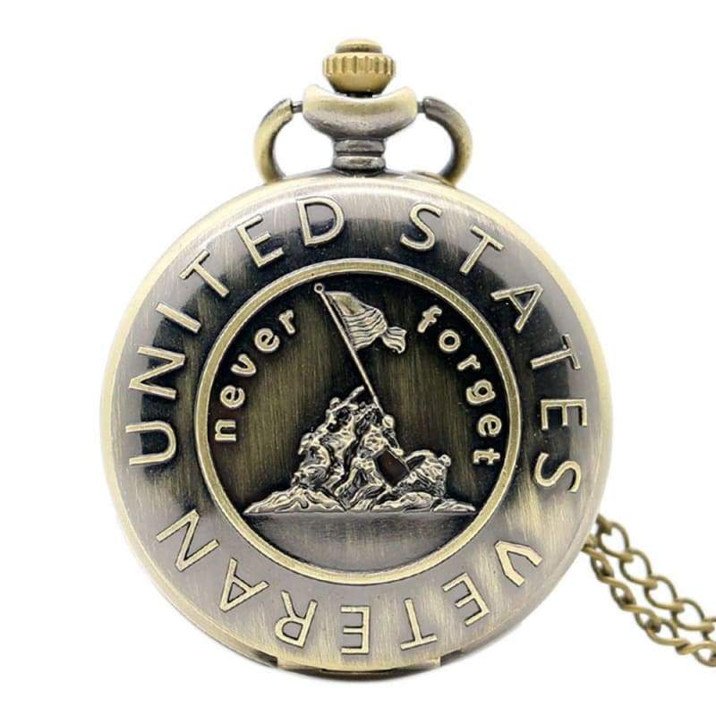 US Army Navy Air Force Marines Corps firefighter Watch - Veteran - Pocket & Fob Watches