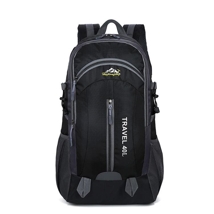 USB Charging Waterproof Backpack - Black - Backpacks