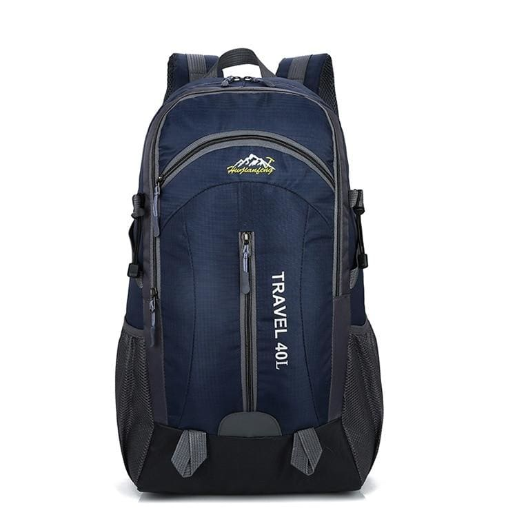 USB Charging Waterproof Backpack - Deep Blue - Backpacks