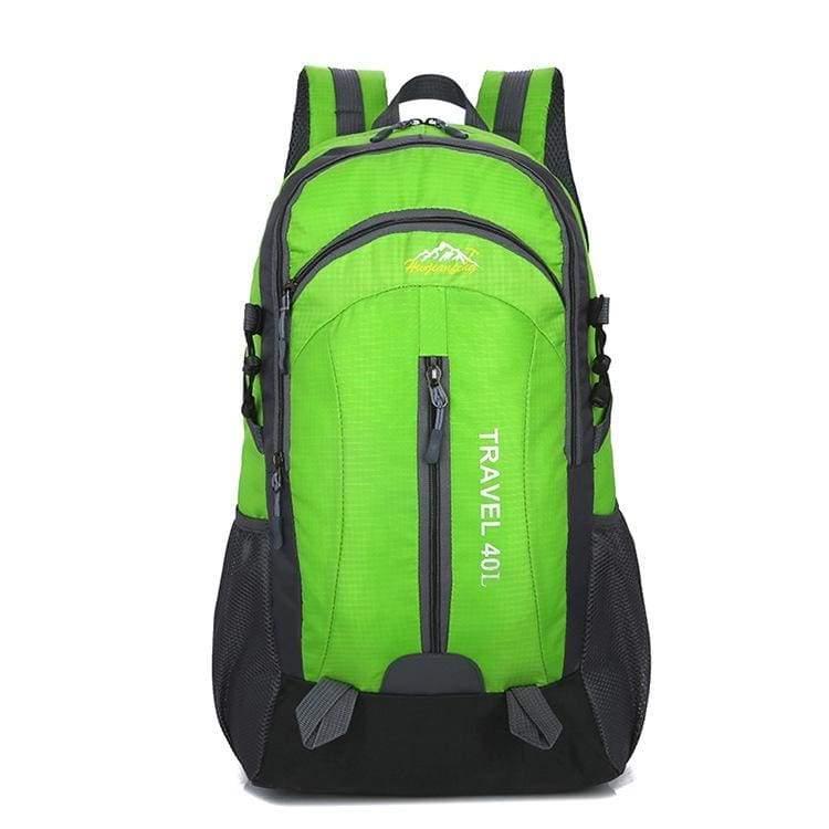 USB Charging Waterproof Backpack - Green - Backpacks