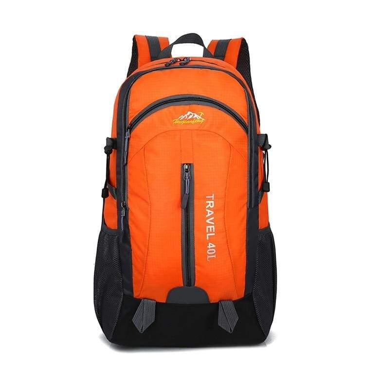USB Charging Waterproof Backpack - Orange - Backpacks
