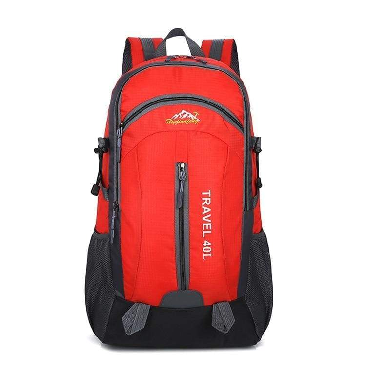USB Charging Waterproof Backpack - Red - Backpacks