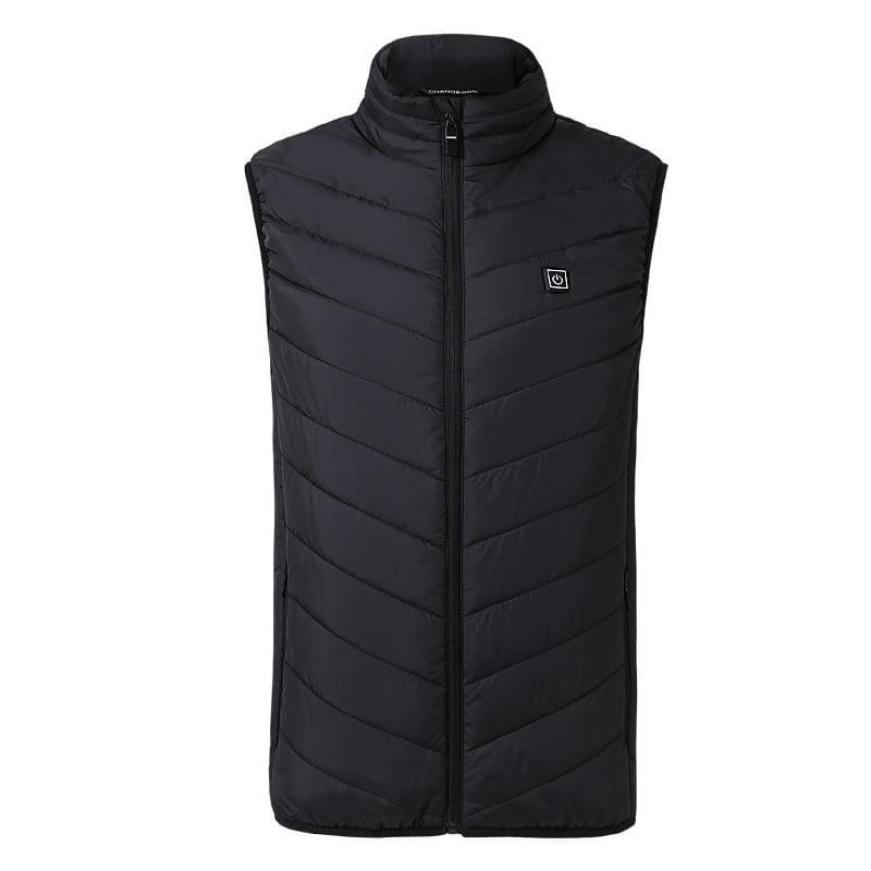USB Heating Electric Jacket - Black / S - Hiking Vests