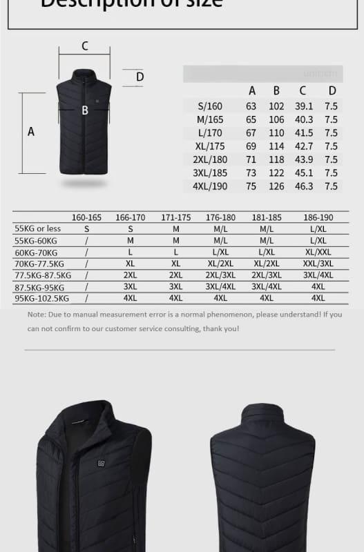 USB Heating Electric Jacket - Hiking Vests