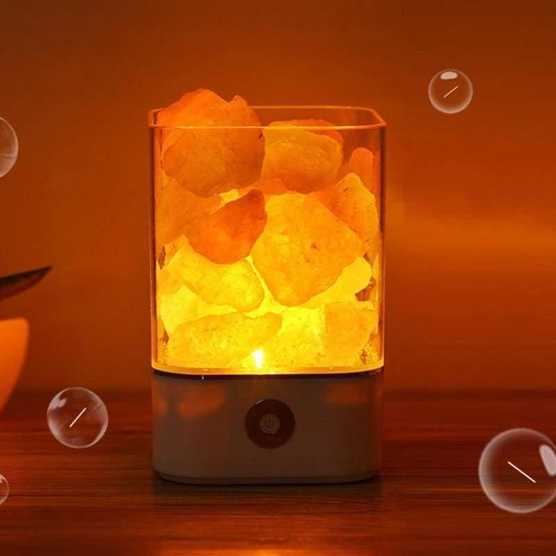 USB Himalayan salt led lamp - LED Night Lights