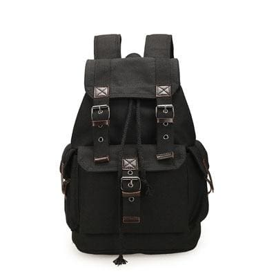 Vintage canvas backpack Just For You - Black - Backpacks
