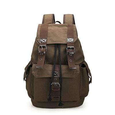 Vintage canvas backpack Just For You - Brown - Backpacks