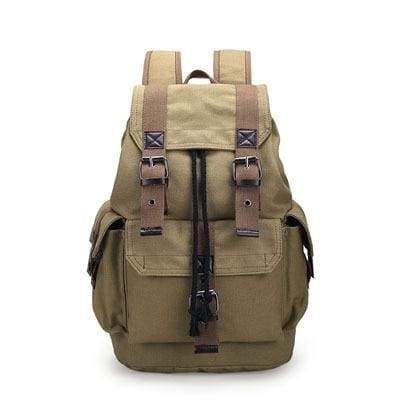 Vintage canvas backpack Just For You - Khaki - Backpacks