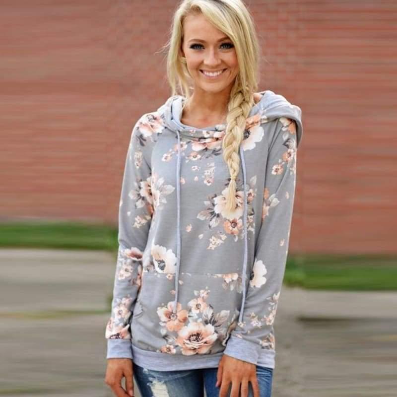Vintage floral hoodie - Hoodies & Sweatshirts