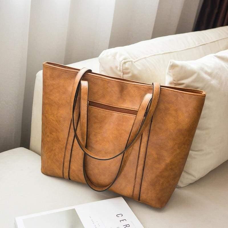 Vintage large capacity bag - Top-Handle Bags