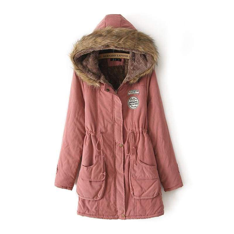 Warm Hooded Parka Women Just For You - Deep Pink / XXL / United States - Parkas