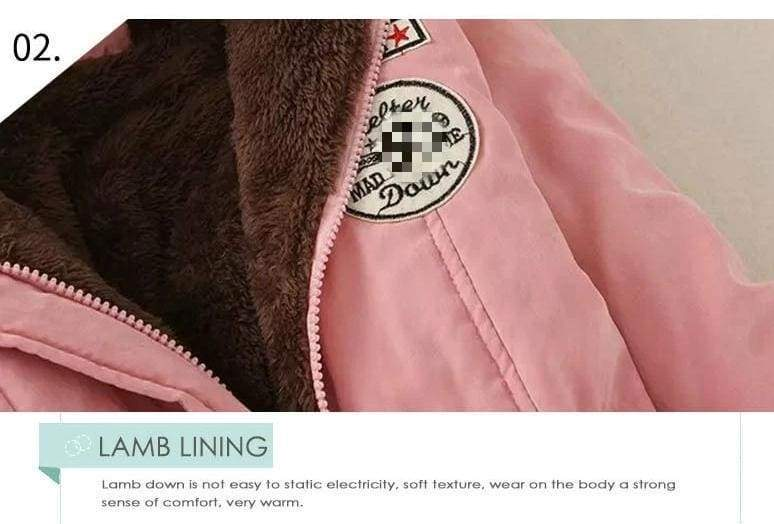 Warm Hooded Parka Women Just For You - Parkas
