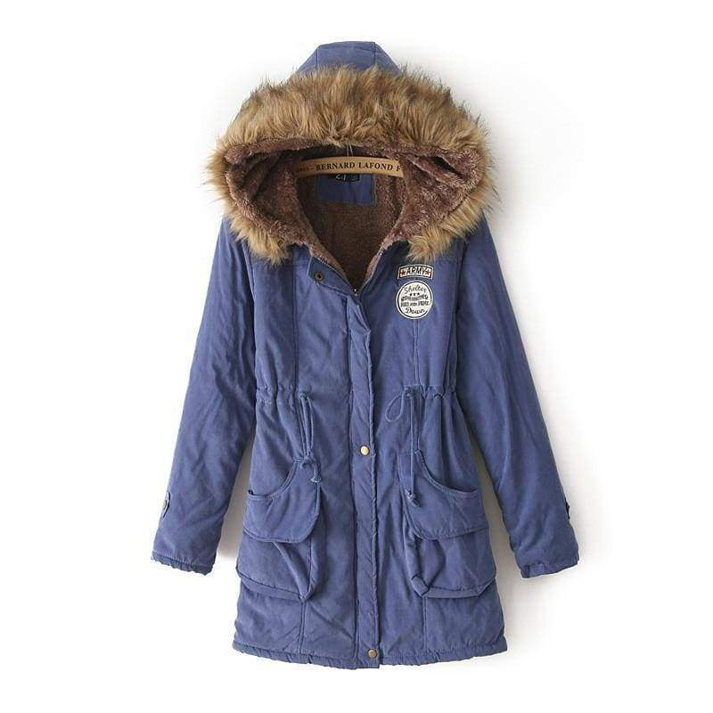 Warm Hooded Parka Women Just For You - Purple / XXL / United States - Parkas