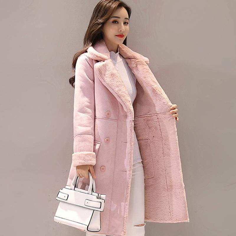 Warm Trench Coats Just For You - Pink / S - Women Coat