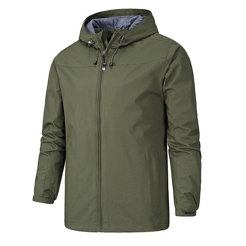 Waterproof Coat Windproof Warm Just For You - 01 army green 13 / 4XL - Hiking Jackets