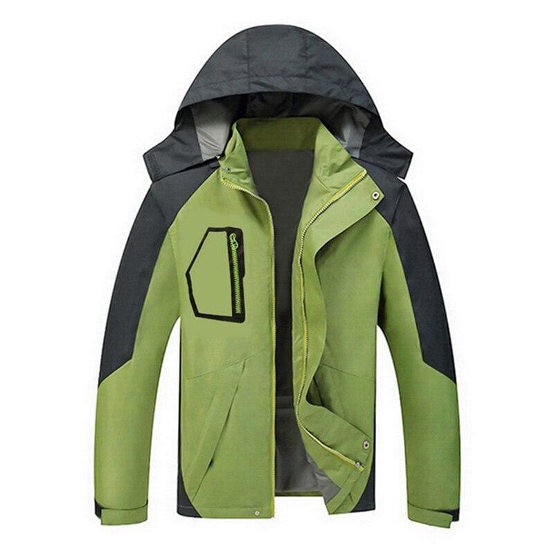 Waterproof Coat Windproof Warm Just For You - 03 green 41 / M - Hiking Jackets