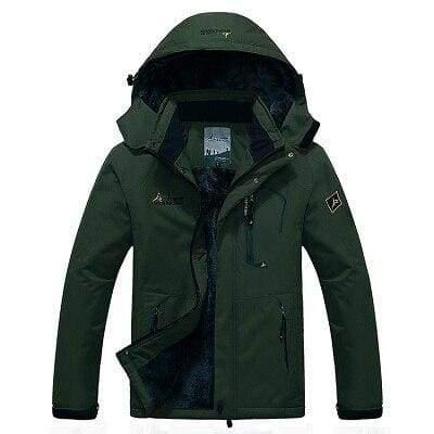 Waterproof Jacket For Men - Army Green / L