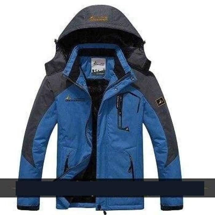 Waterproof Jacket For Men - Denim Blue / L