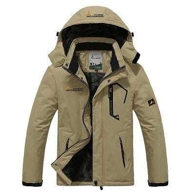 Waterproof Jacket For Men - Khaki / L