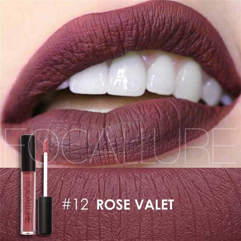 Waterproof long-lasting matte liquid lipstick - 12 - Lip Gloss