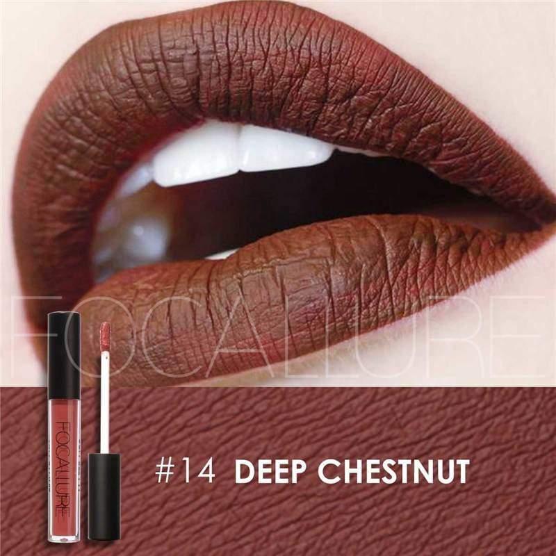Waterproof long-lasting matte liquid lipstick - 14 - Lip Gloss