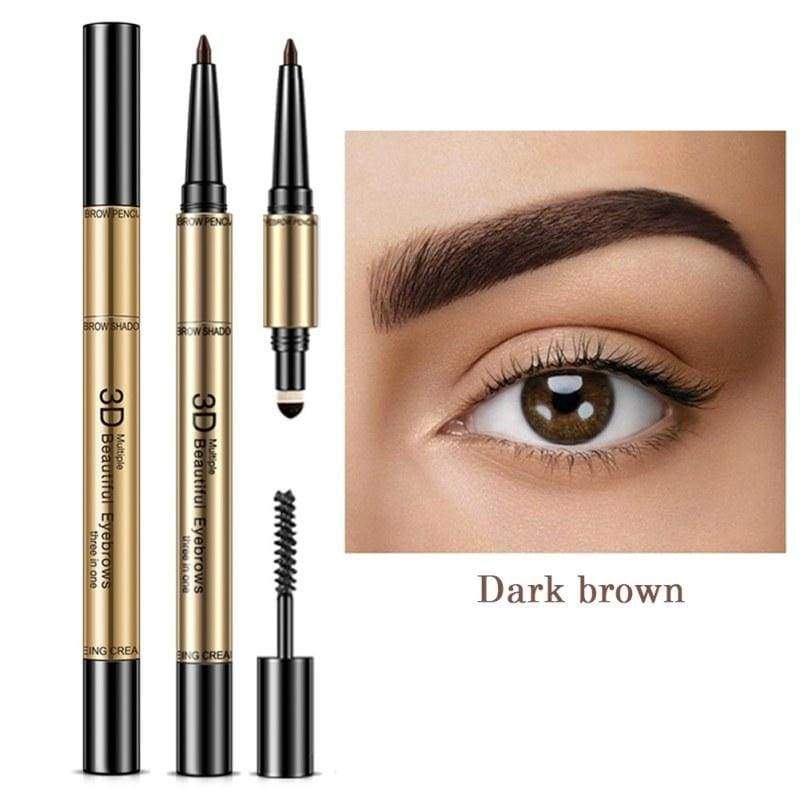 Waterproof Non-Smudging Eyebrow shapes Enhancers - Dark Brown - Eyebrow Enhancers