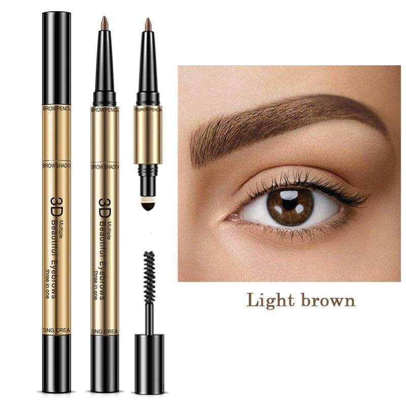 Waterproof Non-Smudging Eyebrow shapes Enhancers - Light Brown - Eyebrow Enhancers
