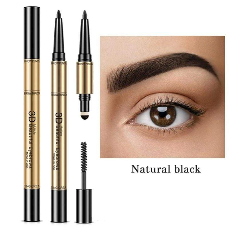 Waterproof Non-Smudging Eyebrow shapes Enhancers - Natural Black - Eyebrow Enhancers