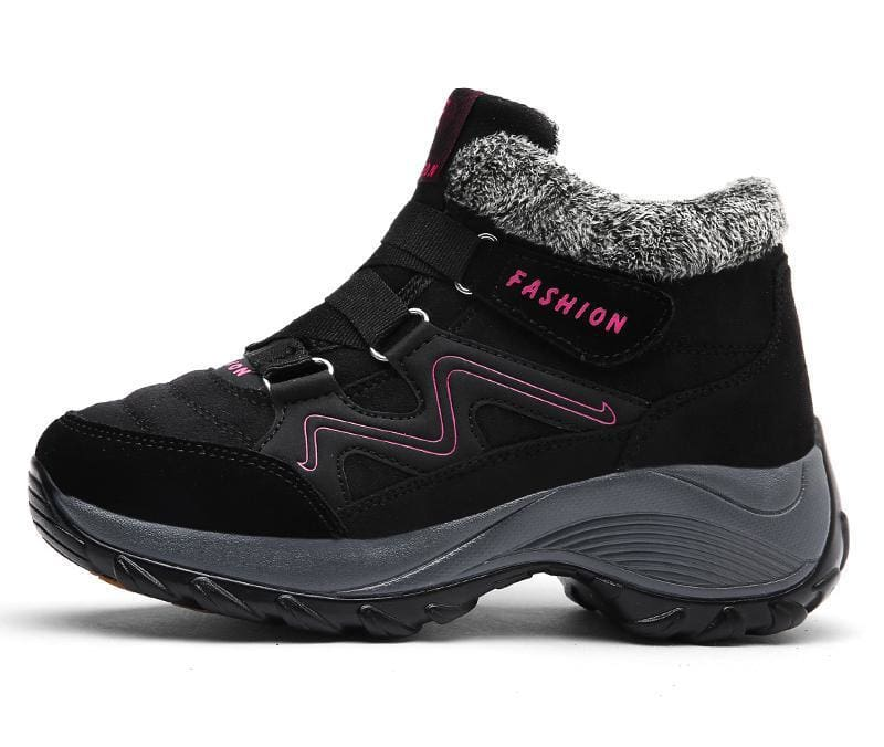 Waterproof Snow Boots - Black / 5 - Hiking Shoes