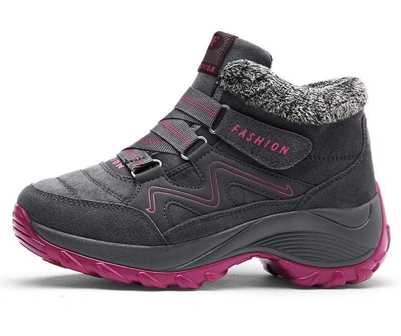 Waterproof Snow Boots - Gray / 5 - Hiking Shoes